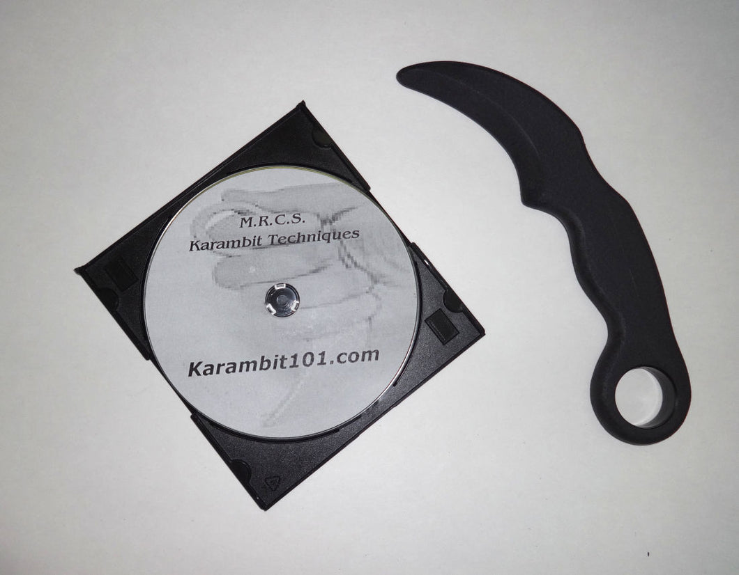 Tactical Karambit Training Practice Knife Kalaj Kutter Knives w/ Instruction DVD