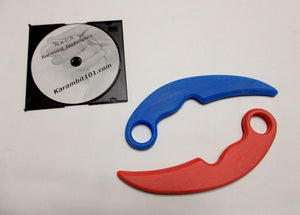 Fire Ice Karambit Trainer Knives Polypropylene Knife Fighting DVD Training Techniques