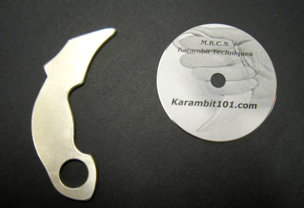 Karambit Silat Training Finger w Knife Fighting DVD Kerambit Trainer Knives