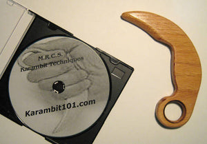 Wooden Training Knife Karambit Trainer Knives Martial Arts Instructional Video