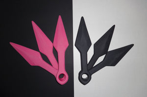 Pink & Black Kunai Knives Training Shinobi Naruto Ninja
