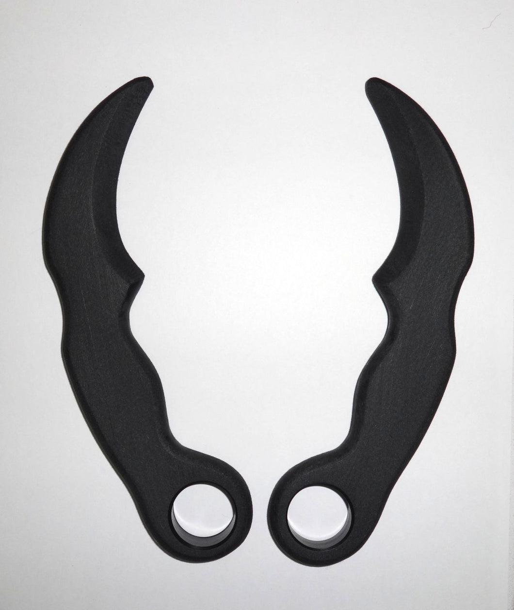 Tactical Karambit Polypropylene Training Knife Black Ops Pair Knives Double Daggers