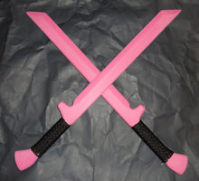 Pink Ninja Swords Ronin Polypropylene Training Double Sword Techniques DVD