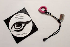 Pink Self Defense Phoenix Eye Key Chain w/ Techniques Training Instruction DVD
