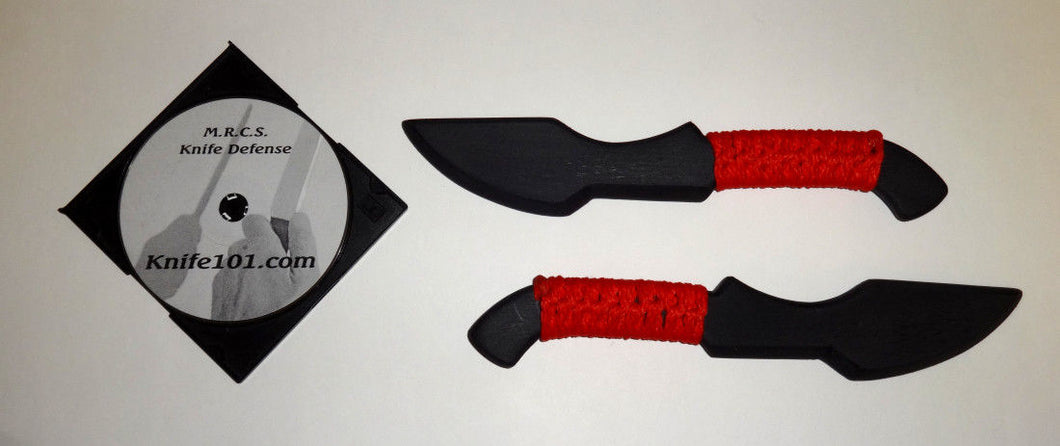 Tanto Kalaj Kutter Red Polypropylene Hunter Training Knives Knife Fighting DVD Defense