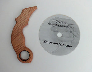 Karambit Pentjak Silat Trainer Polypropylene Instruction Training Knife Fighting DVD Knives