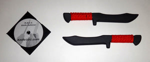 Tanto Kalaj Kutter Red Seal Team Training Knives w Knife Fighting DVD Defense