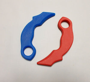Fire Ice Karambit Trainer Knives w/ Training Techniques DVD Bukti Negara