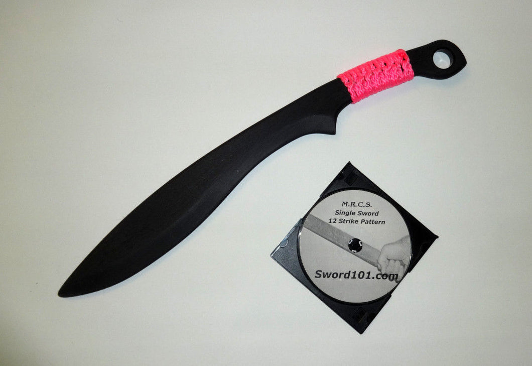 KUKRI TACTICAL HUNTING SURVIVAL RAMBO PRACTICE Polypropylene MACHETE KNIFE AXE SWORD DVD PINK