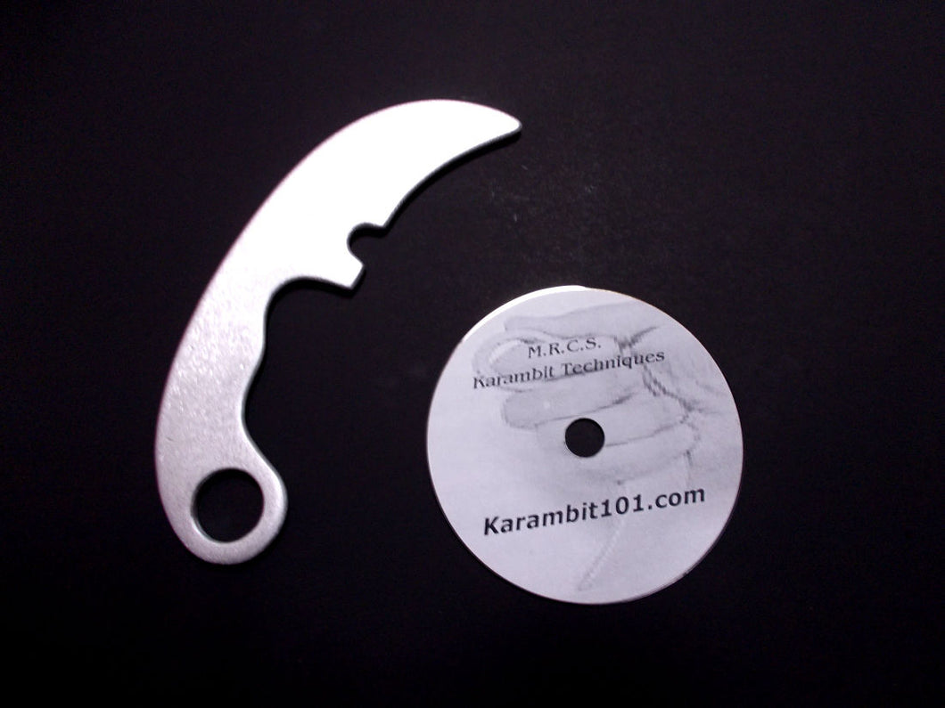 Aluminum Karambit Training Knife Fighting DVD Kerambit Instruction Video