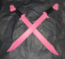 Pink Polypropylene Swords Training Pair Polypropylene Double Swords Techniques DVD