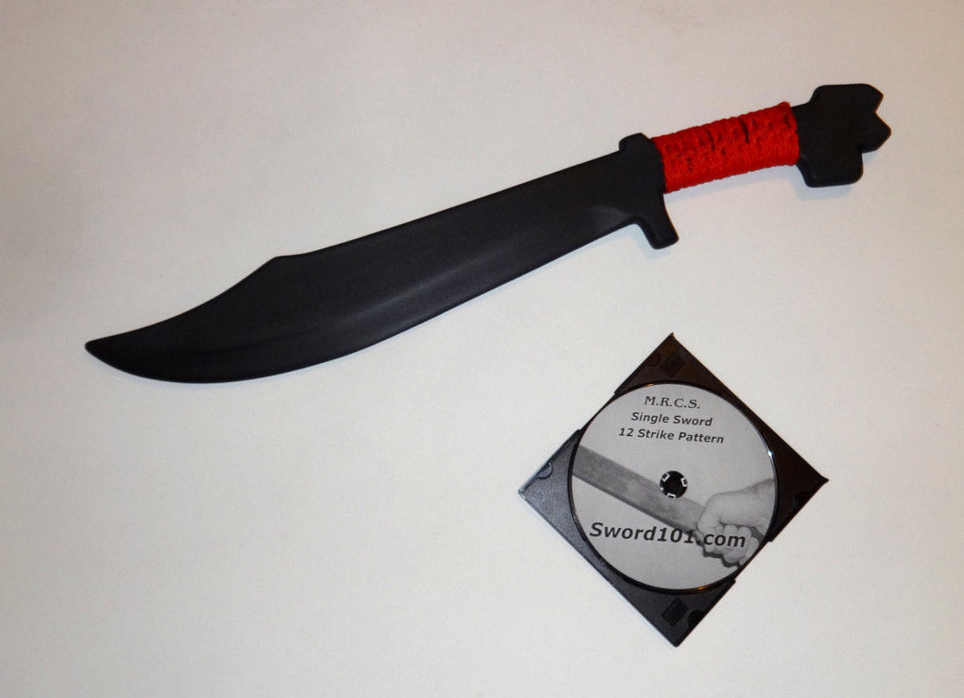 Filipino Practice Training Polypropylene Sword 12 Strike Pattern Martial Arts Instruct DVD