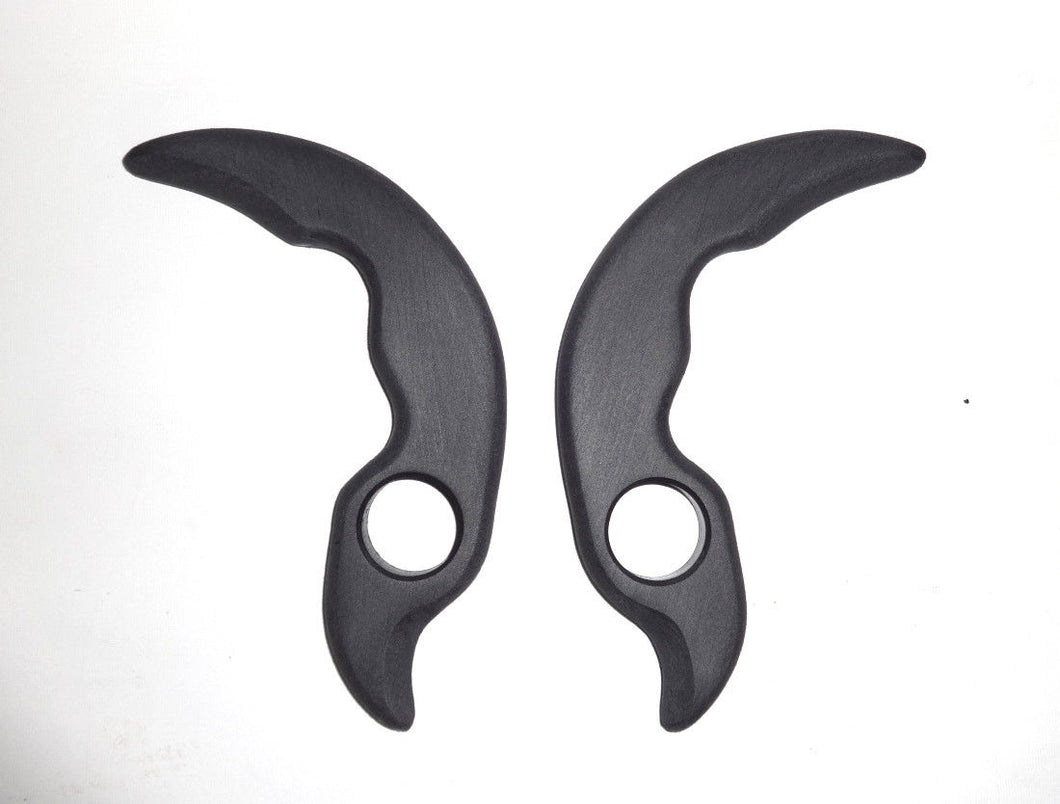 Tactical Claw Karambit Polypropylene Training Knife Black Ops Pair Knives Double Daggers