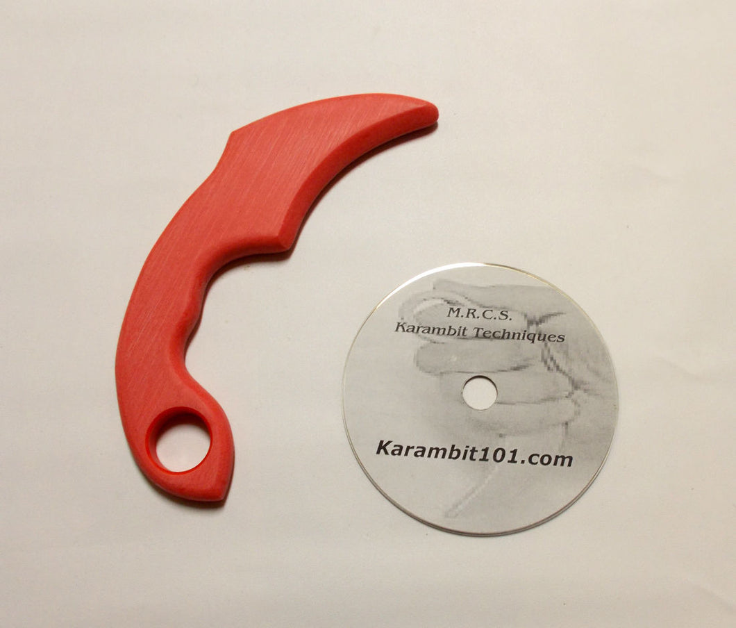 Karambit Training Knives Kerambit Polypropylene Practice Trainer Knife Fighting DVD