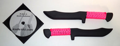 Tanto Kalaj Kutter Pink Seal Team Training Knives w Knife Fighting DVD Defense