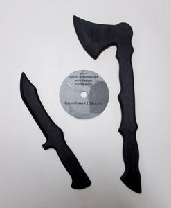 Tomahawk Tactical Training Knife Combat Polypropylene Fighting Techniques Styles DVD