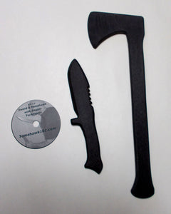 Training Fighting Polypropylene Tomahawk Practice Knife Techniques DVD Video