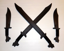 Philippines Bolo Swords Pair Polypropylene Training Filipino Fighter Knives Kali Ronin Combo