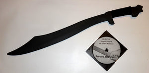 Polypropylene Philippines Practice Sword Training set Martial Arts Instruction DVD black