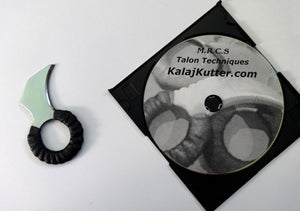 Self Defense Aluminum Kerambit Tanto Talon Ring & Knife Fighting DVD Instruction