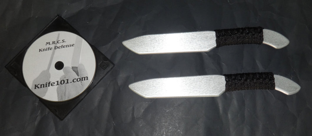 Tanto Aluminum Training Knives Knife Fighting DVD Defense Techniques Kali MMA