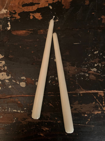 CLASSIC CREAM CANDLE TAPERS (PAIR OF 2)
