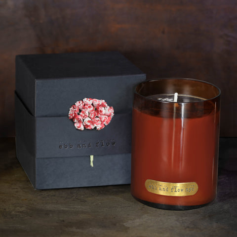 TOBACCO BLACK CHERRY SOY CANDLE - 65 HR BURN TIME