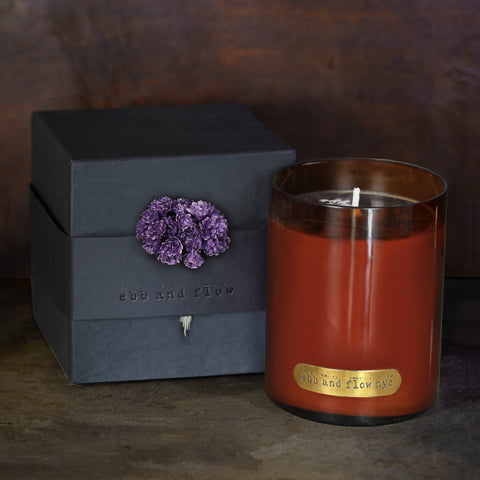 DARK GINGER LAVENDER SOY CANDLE - 65 HR BURN TIME