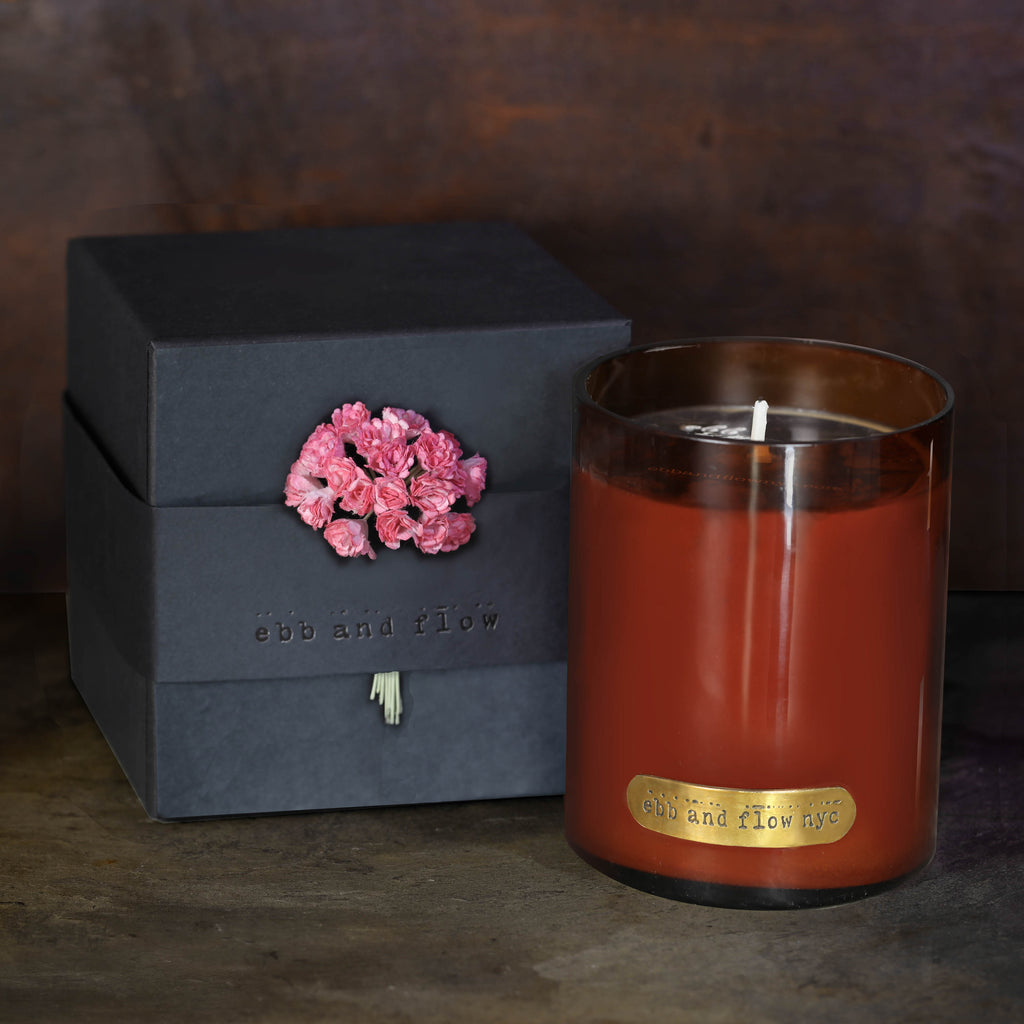 ROSE WATER SOY CANDLE - 65 HR BURN TIME