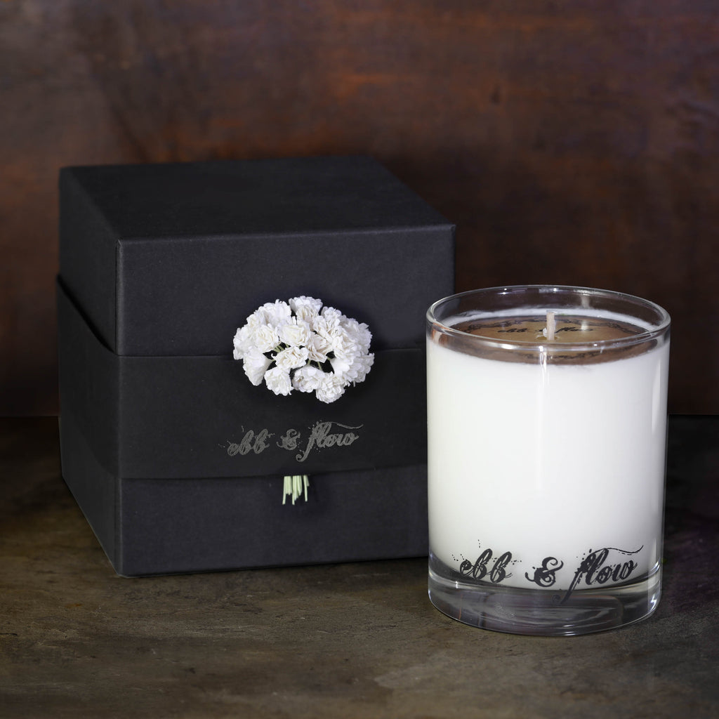 DARK HONEY VANILLA SOY CANDLE - BOX NOT INCLUDED - SLIGHTLY IMPERFECT