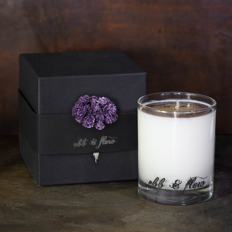 DARK GINGER LAVENDER SOY CANDLE - 45 HR BURN TIME