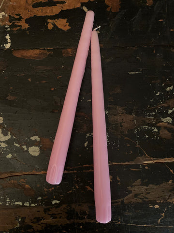 VIOLET PINK CANDLE TAPERS (PAIR OF 2)