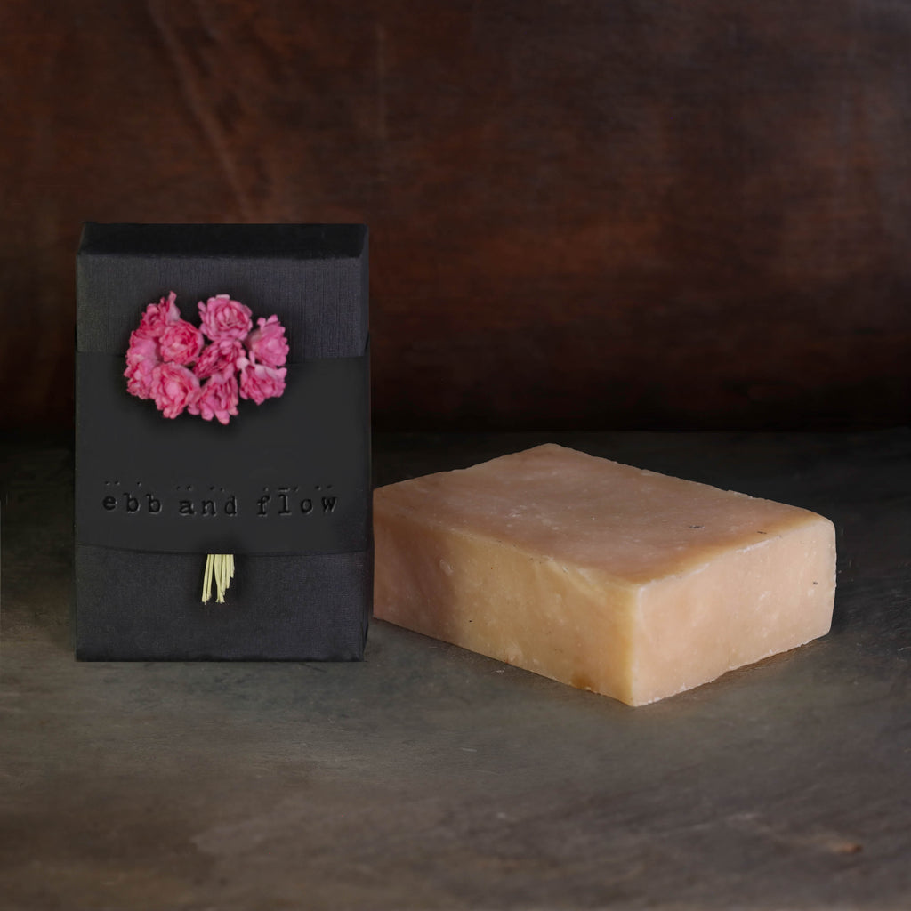 ROSEWATER BAR SOAP (VEGAN AND ORGANIC)