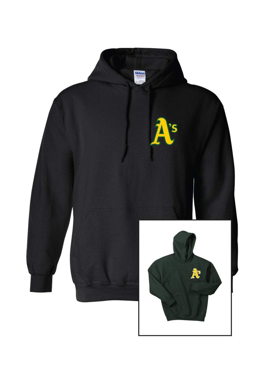 A's Logo Adult Unisex Hoodie