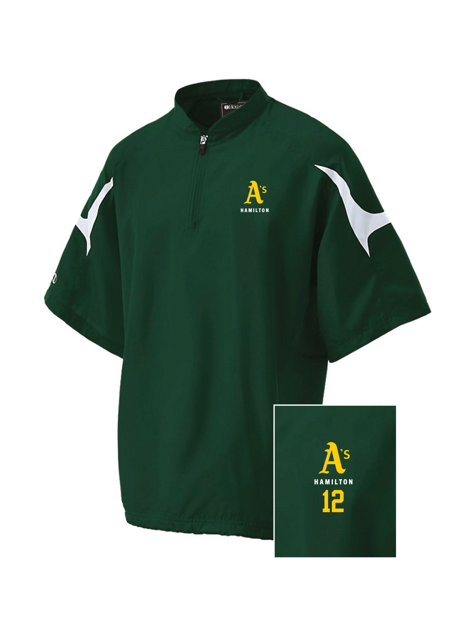 A's Short Sleeve Holloway Cage Jacket