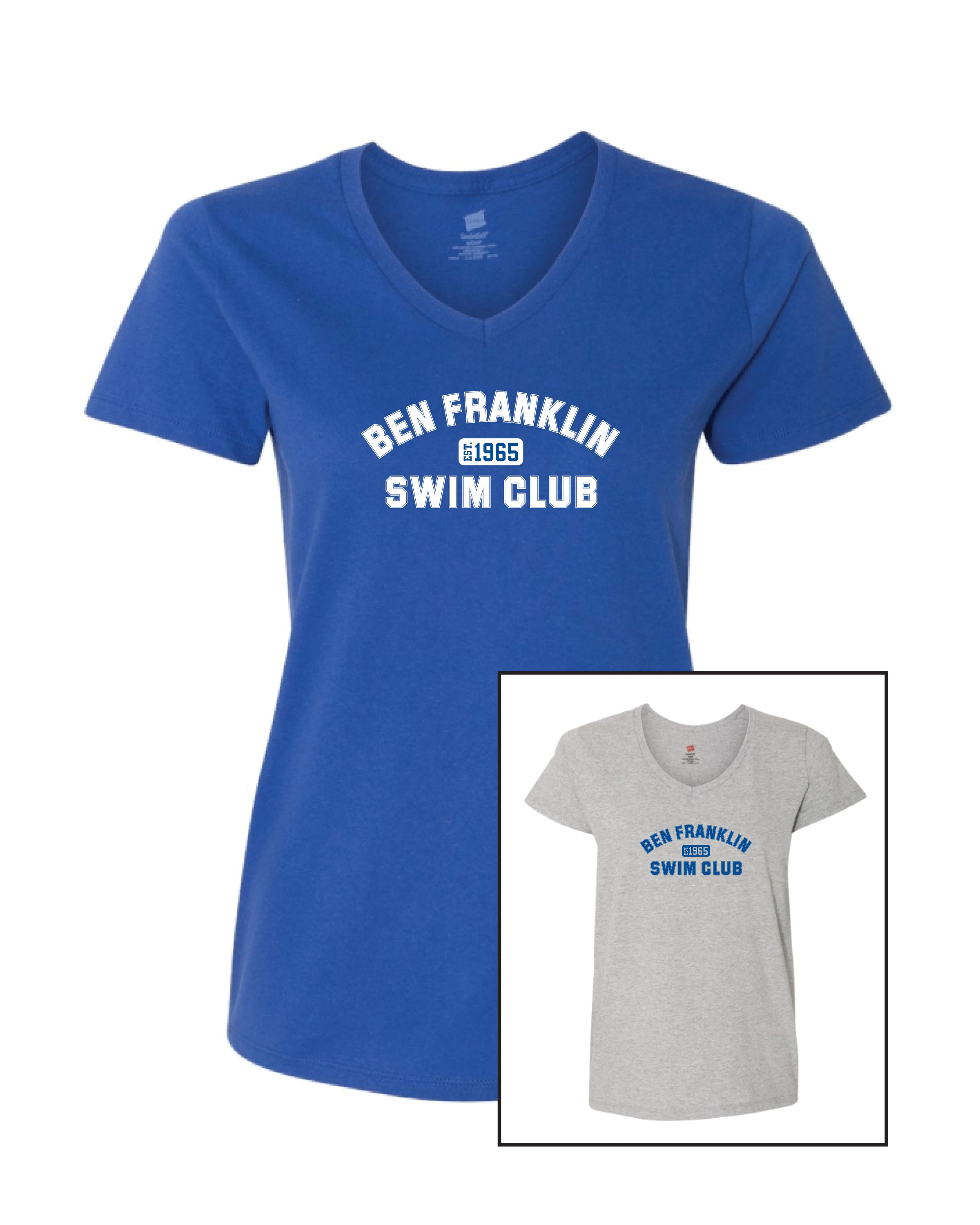 BF Swim Club Women's V-Neck Tee