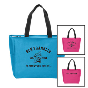 BFES Zip Top Tote Bag