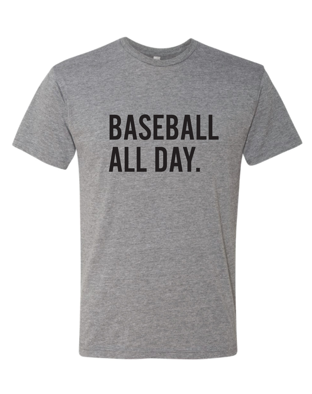 Baseball All Day - Unisex Triblend Crew Tee