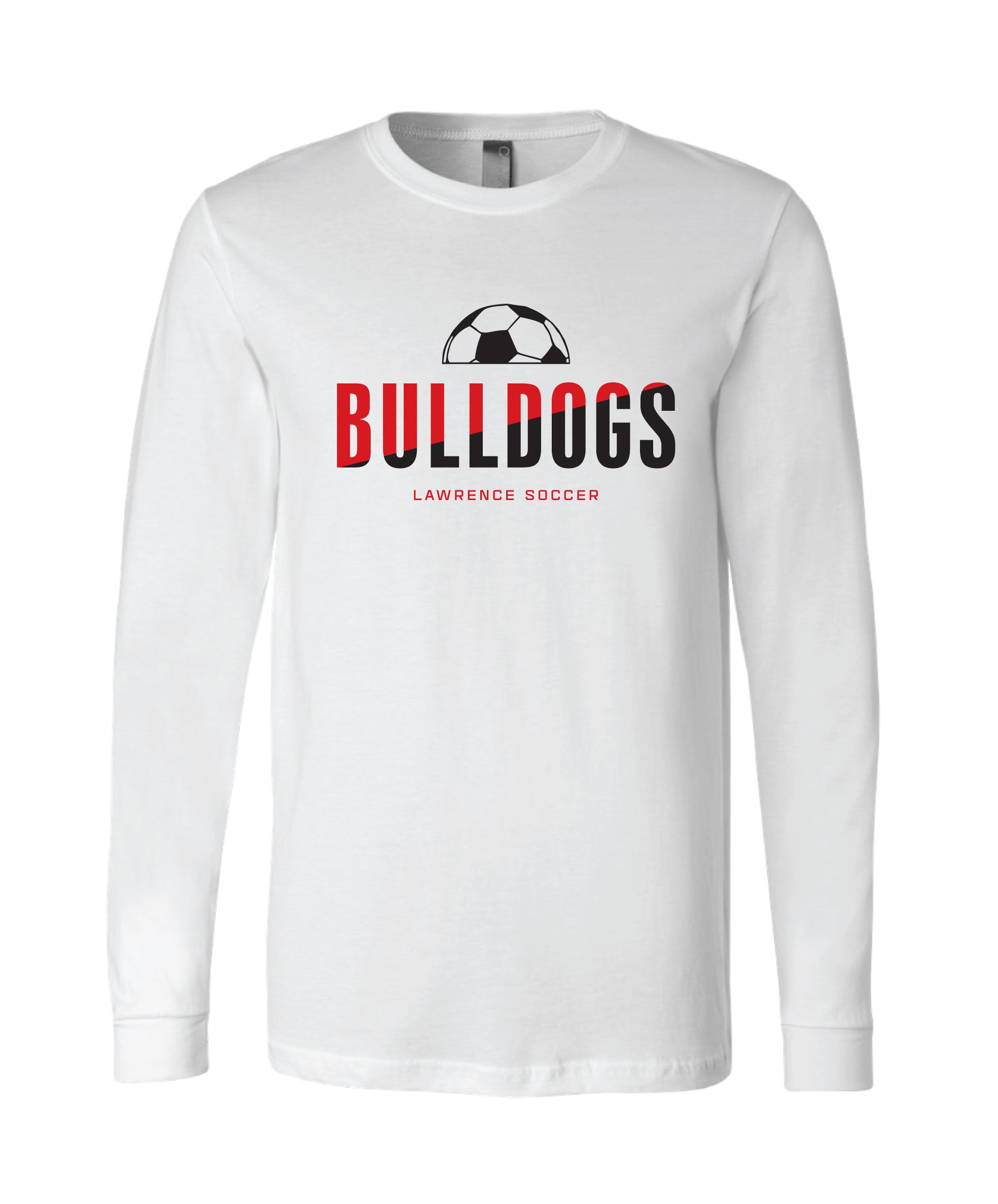 Bulldogs Long Sleeve White Shirt - Adult and Youth