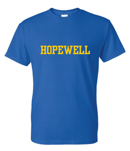 Hopewell T-Shirt BLUE- Adult Unisex and Youth