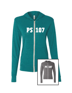 PS107 Light Weight Zip-Up Hoodie- Adult Unisex