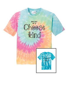 PS107 Tie-Dye T-Shirt- Adult Unisex and Youth