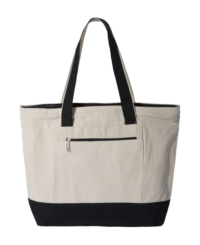 Toll Gate Zippered Top Tote Bag