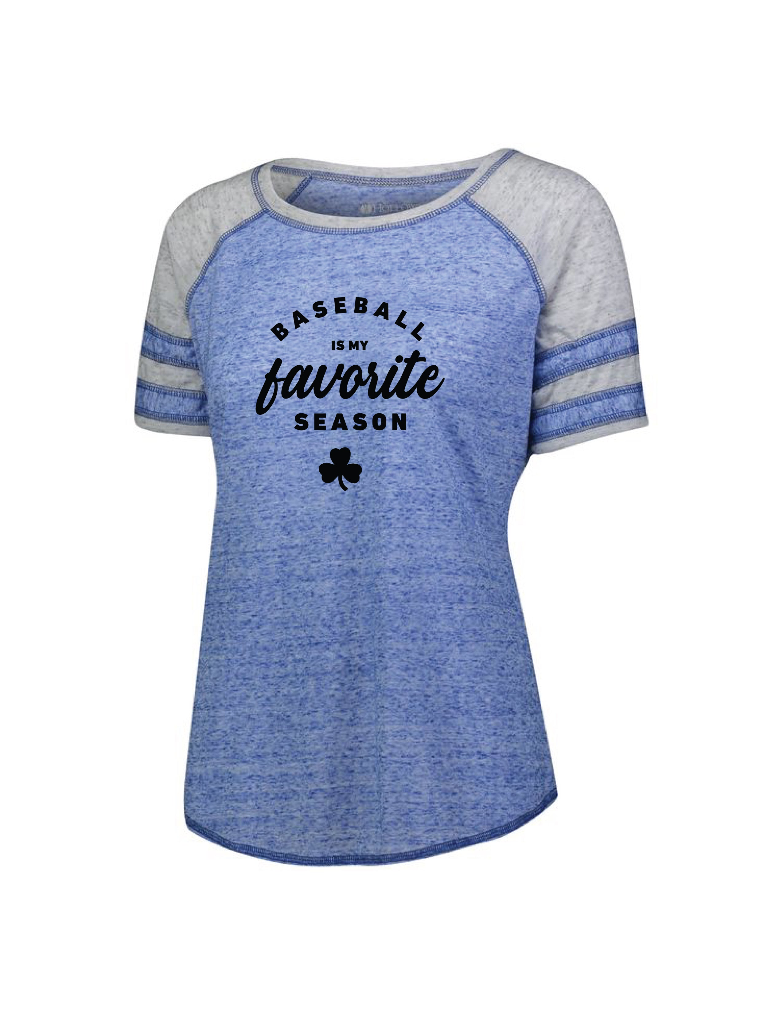 Shamrocks Baseball Women's Vintage Striped Raglan T-Shirt