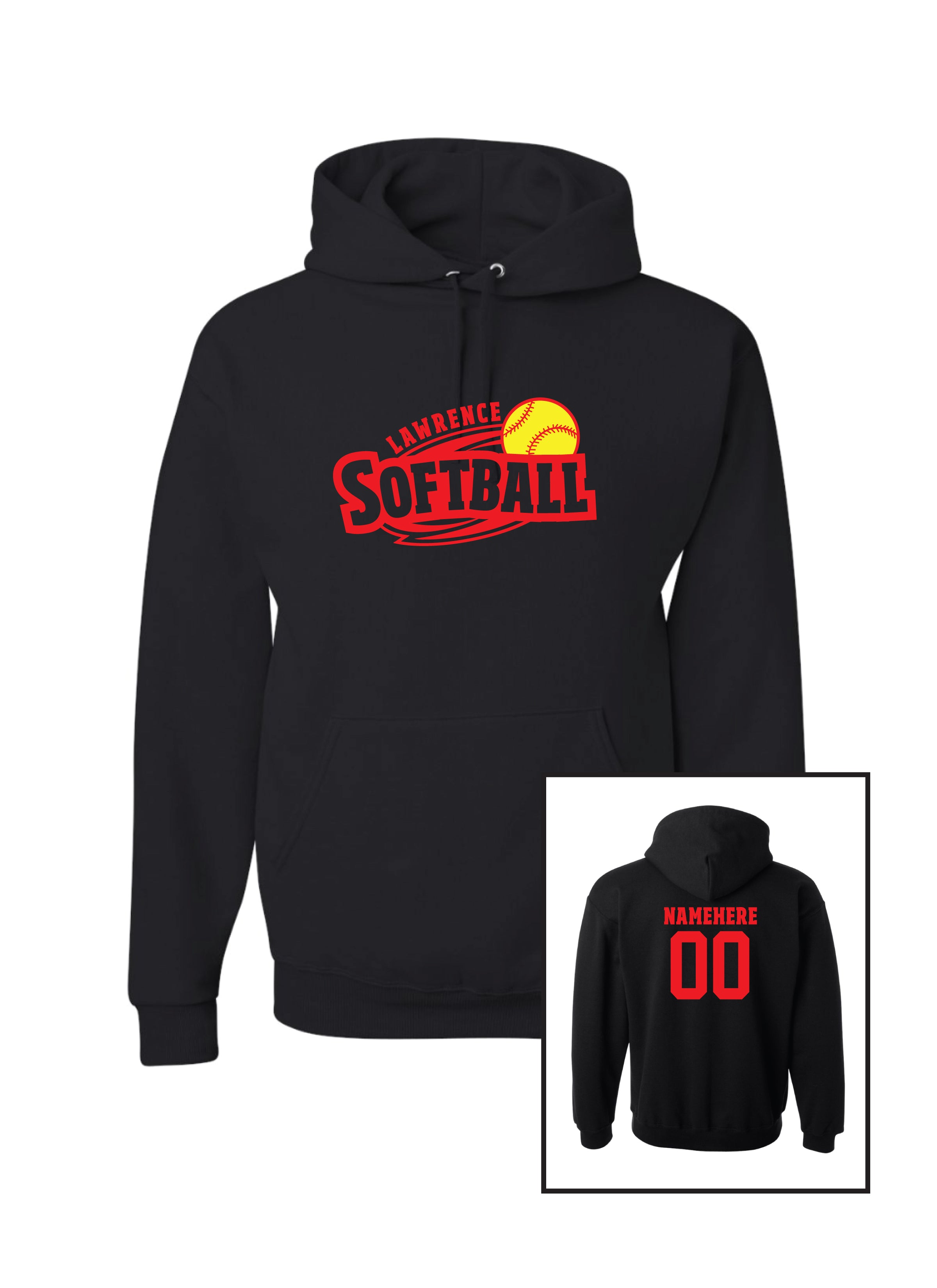 Lawrence Softball  Gildan Youth Hoodie