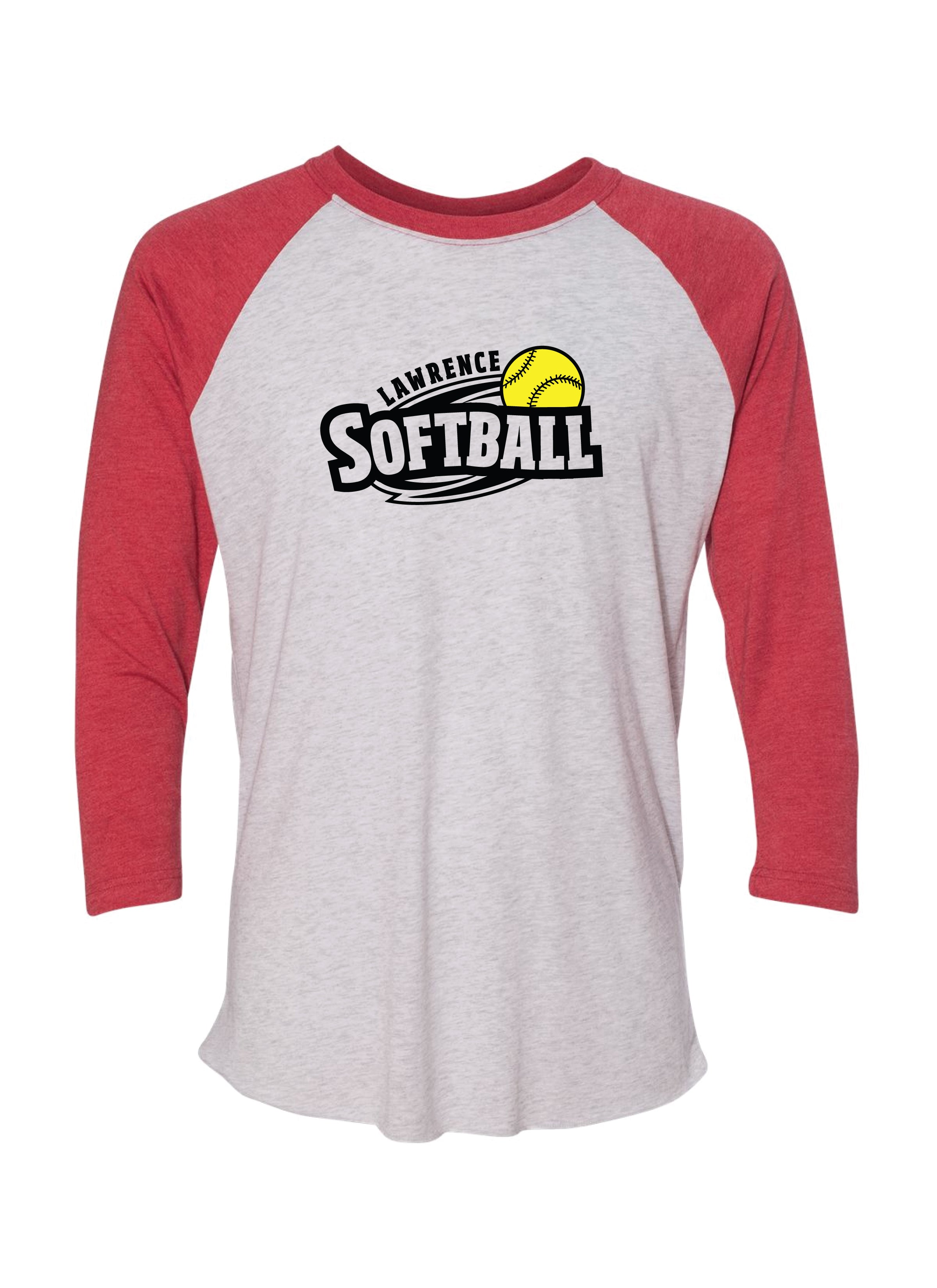 Lawrence Softball Unisex Raglan
