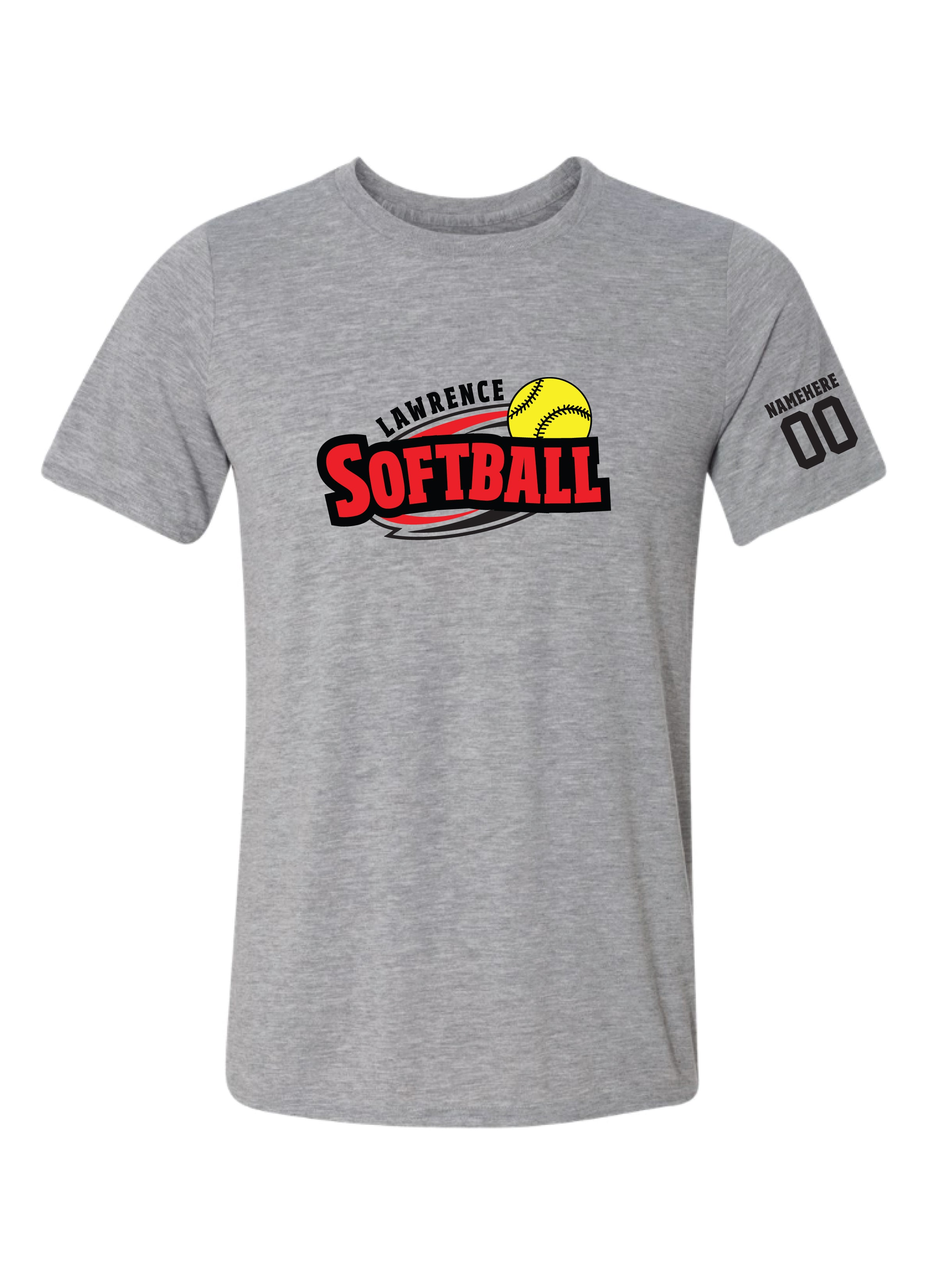 Lawrence Softball Full Color Logo Dri-fit T-Shirt