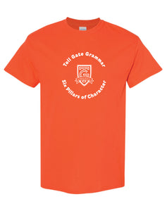 Toll Gate Pillar T-Shirt ORANGE- Adult Unisex and Youth
