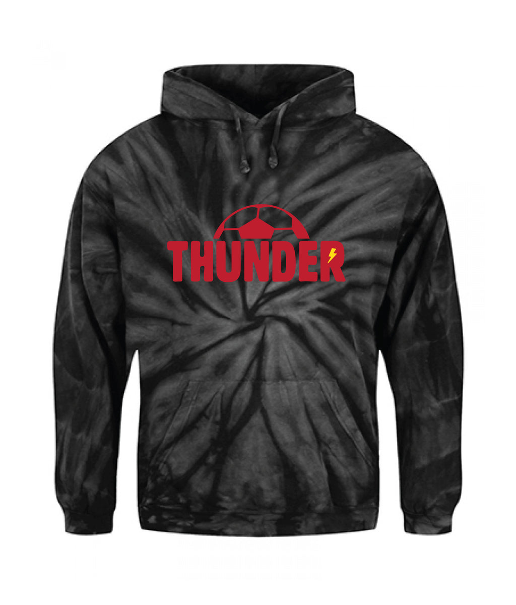 Boys Thunder Black Tie-Dye Hoodie- Adult Unisex and Youth