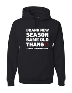 Thunder G-Team Black Baseball YOUTH Hoodie